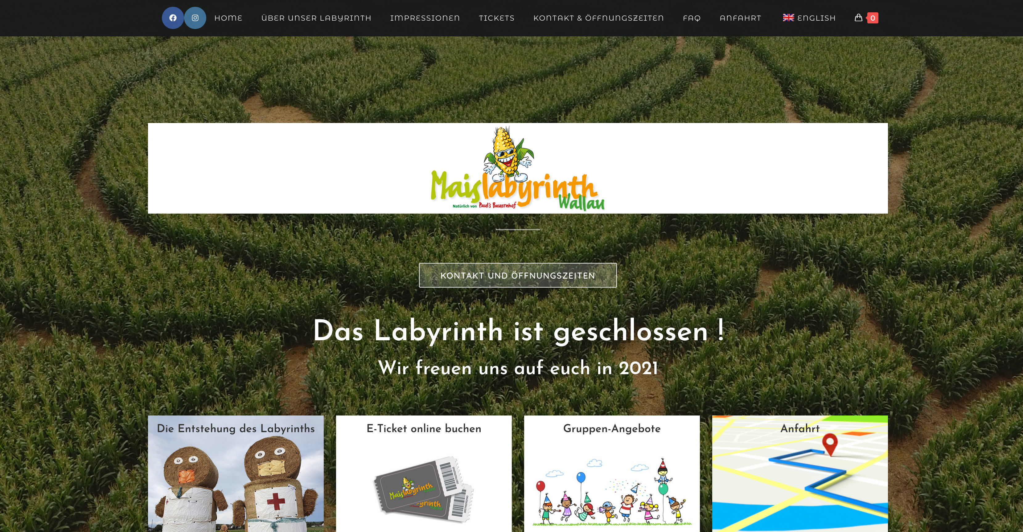 Maislabyrinth – Wallau – Ticketsystem & Shop